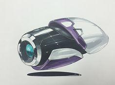 Cam concept marker rendering on Behance