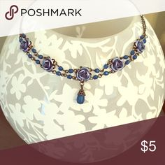 Lovely blue necklace Adjustable length necklace Avon Jewelry Necklaces