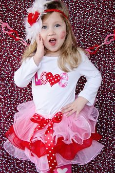 LOVE is in the Air!    Your little princess is SURE to be extra SWEET this year wearing this precious little LOVE applique shirt by Prissy
