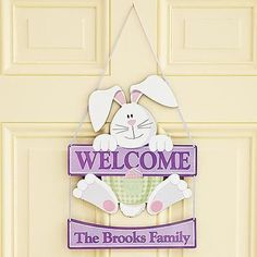 Bunny Welcome Sign | Easter Gifts For Adults