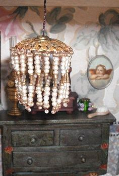 how to: beaded hanging lamp