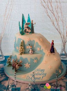Frozen Birthday Party Cake!  See more party planning ideas at CatchMyParty.com!