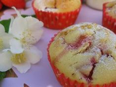 O Bolinho de Sábado: Muffins de Morangos