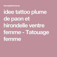 idee tattoo plume de paon et hirondelle ventre femme - Tatouage femme