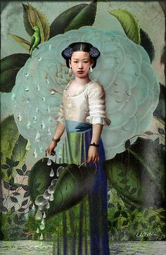 fabionardini:  Morning Dew Girl, by Catrin Welz-Stein Posted by Rebecca Wise Girson on Pinterest Source: redbubble.com