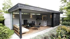 Incredible Backyard design with luxurious backyard pavilion. Backyard Pavilion, Backyard Bar, Backyard Sheds, Backyard Patio Designs, Pergola Patio, Backyard Landscaping, Backyard Kitchen, Backyard Storage, Outdoor Pavilion