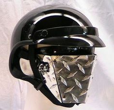 Motorcycle Custom Helmets Metal Face Masks