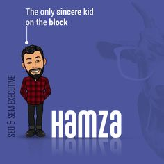 The wisest of em'all, Hamza is the most dedicated and devoted employee when it comes to forgetting his fellow colleague's names🤦🏻♂️. A simple and earnest boy, Hamza has been getting numerous dates since he was a kid (can you believe?). Never has he missed one in his tiffin😝. A superman🦸🏻♂️ when it comes to acing the SEO🎯 game, he is the person we all look up to for the hardwork he does and robust💪🏼 research skills he possesses!👨🏻💻  #digitalmarketing #branding #seo #seomarketing