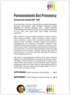 Porozumienie Bez Przemocy Marshall Rosenberg pdf streszczenie