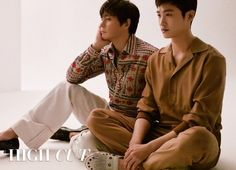 """Speaking of the K-drama remake """"Suits"""", Jang Dong Gun & Park Hyung Sik will be in a pictorial together in High Cut Vol. Park Hyung Sik, Korean Men, Korean Actors, Kbs Drama, Cn Blue, Kdrama Actors, Attractive Guys, Strong Girls, High Cut"""