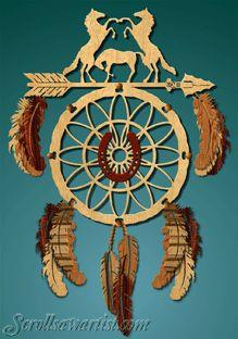 Scroll Saw Patterns :: Native American & Southwestern :: Dream catchers -