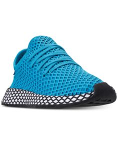 58ccc94bcd912e adidas Boys  Deerupt Runner Casual Sneakers from Finish Line Kids - Finish  Line Athletic Shoes - Macy s