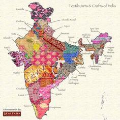 "Rahul Kanwal on Twitter: ""Nice. Textile map of India. And innovative campaign by @smritiirani to popularise handloom #IWearHandloom…"