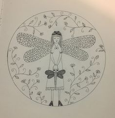 A personal favourite from my Etsy shop https://www.etsy.com/au/listing/494258361/dragonfly-fairy-wall-art-print-of