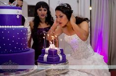 Most definitely, you need to have a picture taken blowing out the candles.  --- Quinceanera photo idea  \\ Photo Credit: Lupita Cabrera Photography