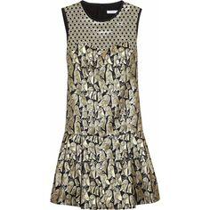 Victoria, Victoria Beckham Dropped-waist jacquard dress via Polyvore