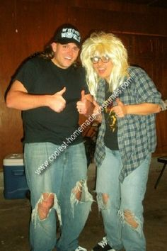 @Katie Schmeltzer Schmeltzer Libby please be this for my Halloween party lol Homemade Wayne and Garth Couple Costume