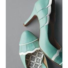 vintage inspired robins egg blue heels