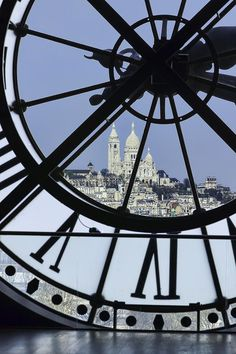 Sacre Coeur from Musee d'Orsay, Paris France #FredericClad #THEFARM