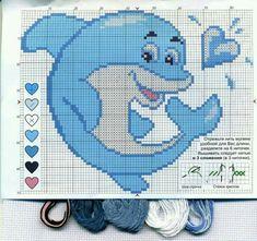 Cross Stitch Sea, Cross Stitch Animals, Cross Stitch Charts, Cross Stitching, Cross Stitch Embroidery, Hand Embroidery, Plastic Canvas Crafts, Plastic Canvas Patterns, Graph Crochet