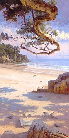 Richard Robinson Gallery - Impressionist Landscape Oil Paintings, DVD Lessons, Learn How to Paint. by nell Impressionist Landscape, Watercolor Landscape, Landscape Art, Landscape Paintings, Seascape Paintings, Watercolor Paintings, Oil Paintings, Painting Trees, Paintings Famous