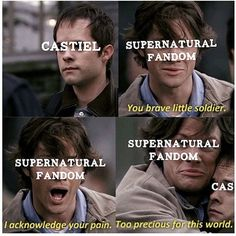 I tried not to repin it, but it is accurate. Cas is indeed our brave, precious little soldier.