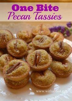 Pecan Tassies |such a wonderful and easy to make treat for Thanksgiving or Christmas! | With a Blast