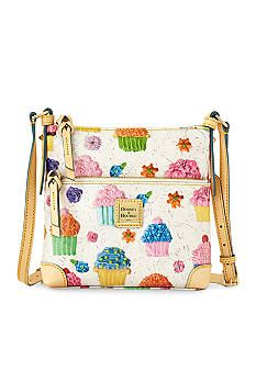 Dooney & Bourke Cupcake Print Letter Carrier Crossbody - Belk.co