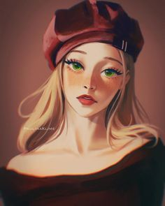 Digital Art Anime, Anime Art, Green Eyes, Top Artists, Princess Zelda, Female, Portrait, Fictional Characters, Beautiful