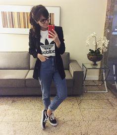 Taper : Jeans & Denim for Women : Target Fall Outfits For Work, Casual Work Outfits, Summer Outfits, Cute Outfits, Look Fashion, Girl Fashion, Fashion Outfits, Womens Fashion, Looks Adidas