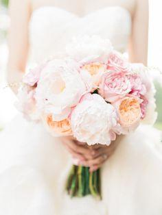 Beautiful combo: http://www.stylemepretty.com/2015/02/11/romantic-pink-on-pink-california-wedding/ | Photography: Honey Honey - http://www.hoooney.com/