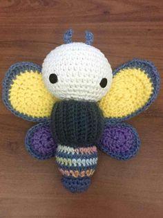brimstone butterfly made by Pia A. / crochet pattern by lalylala