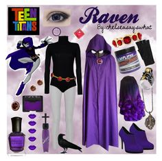 """Raven - Teen Titans"" by chelseasayswhat on Polyvore"