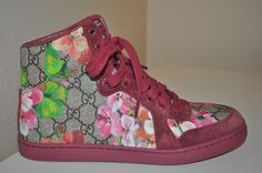 862a7d7c19f3 NEW  690+ GUCCI Coda Bloom High Top Sneaker Multi Color Flower GG Print 36 6
