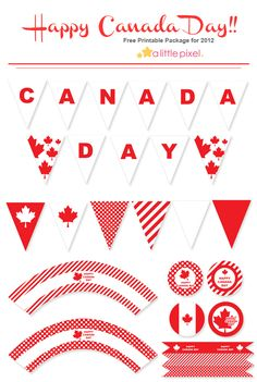 Free Canada Day Printables. I served my mission in Canada so I'll pin this. :)