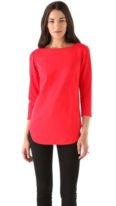 Tibi Ponte Tunic Top.  I want to make this.  Simple lines and looks very comfy for everyday wear.
