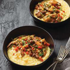 Garlic Shrimp and Grits Louisiana Recipes, Cajun Recipes, Shrimp Recipes, Cajun Food, Tasty Dishes, Food Dishes, Easy Shrimp And Grits, Garlic Shrimp, Garlic Minced