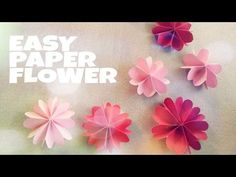 DIY Hanging Paper Flowers Garland for Easy Party Decorations on Budget - YouTube