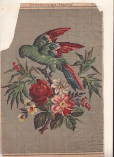 VK is the largest European social network with more than 100 million active users. Cross Stitch Bird, Cross Stitch Flowers, Cross Stitch Charts, Cross Stitch Designs, Embroidery Patterns Free, Bird Patterns, Vintage Embroidery, Butterfly Embroidery, Needlepoint