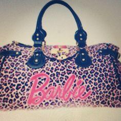 Barbie leopard purse.
