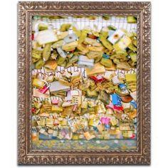 Trademark Fine Art 'Paris Locks Love' Canvas Art by Ariane Moshayedi, Gold Ornate Frame, Size: 16 x 20, Multicolor