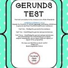 Perfect for assessing the Common Core State Standard  L.8.1.A Explain the function of verbals (gerunds, participles, infinitives) in general and their function in particular sentences.  This assessment includes a total of 30 questions to assess your students' knowledge of gerunds.