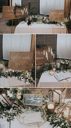 Love the wooden signs and colors in these pictures. Not crazy about the candle holder, feels a little gothic
