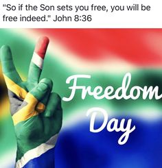 Free Indeed, Freedom Day, Set You Free, Flag, Science