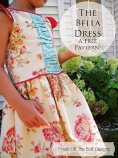 Handicraftiness: The Bella Dress: Free Pattern and Tutorial