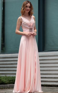 Fashion Sweet Pink V-neck Long Beads Banquest Cocktail and Party Evening Dress Formal Dress,<3!