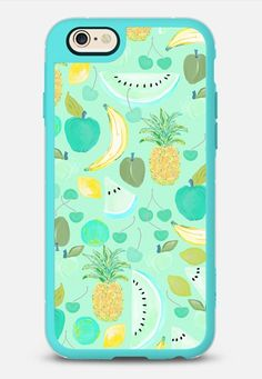 Fruit Punch Retro AquaTeal iPhone 6 case in Teal & Clear by @lisaargy   @casetify