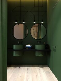 Bathroom design in perfect green