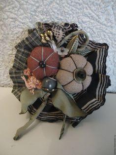 """Купить Брошь """"Осенний сад"""" - комбинированный, брошь, текстильная брошь, брошь из ткани, купить брошь"""
