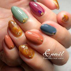 Fall Nail Art, Nail Art Diy, Diy Nails, Japanese Nail Art, Manicure Y Pedicure, Perfect Makeup, Shellac, Nail Arts, Nail Inspo